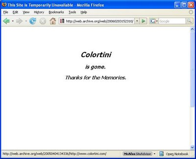 Fate of Colortini.com Reveals Limits of Internet Archiving