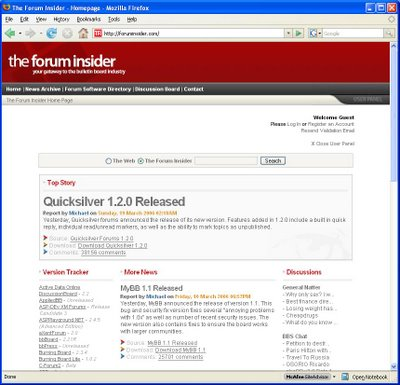 ForumInsider.com was last updated in March of 2006