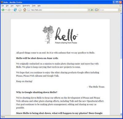 Hello.com Says Goodbye