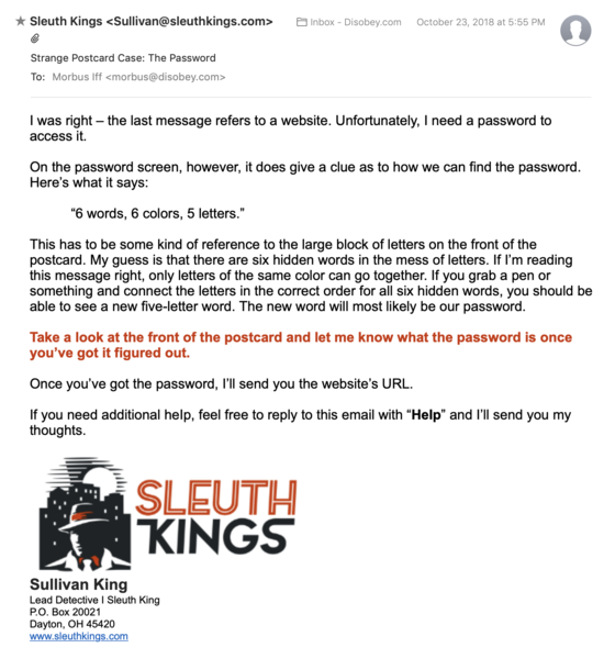 File:Sleuth Kings-Strange Postcard Case-Email-The Password.png